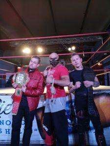 Schwarzes Wrestling-Video